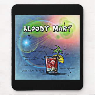 Bloody Mary Hangover Drink Recipe Mouse Pad