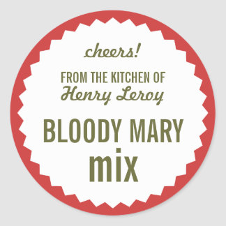 Bloody Mary Mix From the Kitchen of Name Gift Tag