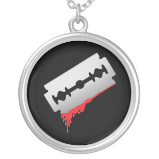 Bloody Razor Necklace