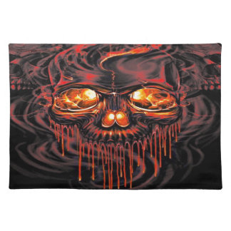 Bloody Red Skeletons Placemat
