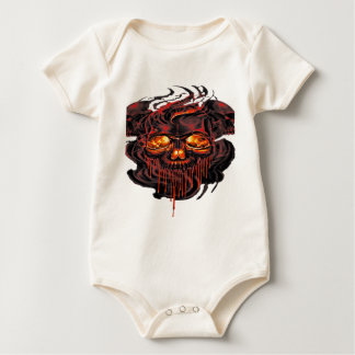 Bloody Red Skeletons PNG Baby Bodysuit