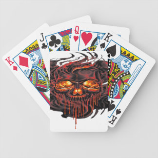 Bloody Red Skeletons PNG Bicycle Playing Cards