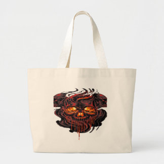 Bloody Red Skeletons PNG Large Tote Bag