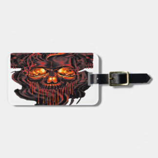 Bloody Red Skeletons PNG Luggage Tag