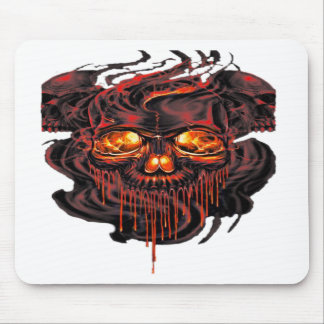 Bloody Red Skeletons PNG Mouse Pad