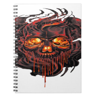 Bloody Red Skeletons PNG Notebook