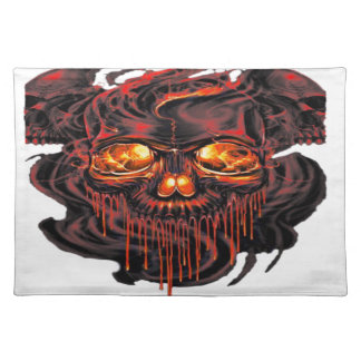 Bloody Red Skeletons PNG Placemat
