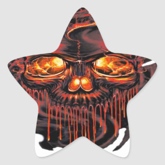 Bloody Red Skeletons PNG Star Sticker