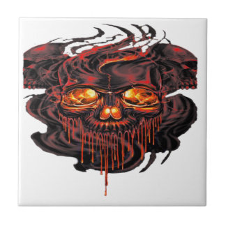 Bloody Red Skeletons PNG Tile