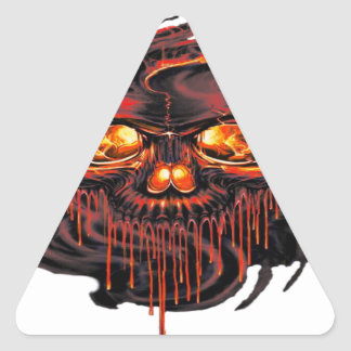 Bloody Red Skeletons PNG Triangle Sticker