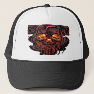 Bloody Red Skeletons PNG Trucker Hat