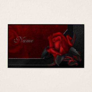 Bloody Rose - Gothic Design Business Card