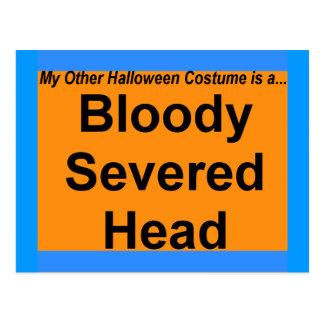 Bloody Severed Head Postcard