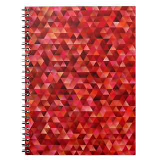 Bloody triangles spiral notebook