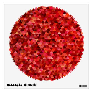 Bloody triangles wall decal