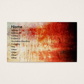 Bloody Wall/Art Print Business Card