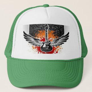 Bloody Winged Guitar Baseball Trucker Hat Custom