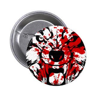 Bloody Wolf 2 Inch Round Button