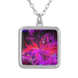 Bloom Abstract Design Silver Plated Necklace