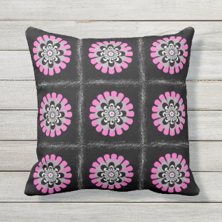 Bloom Blush Patchwork Outdoor Pillow