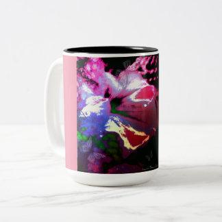 Bloom Buddha (pink) Two-Tone Coffee Mug
