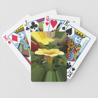 Bloom cups bicycle playing cards