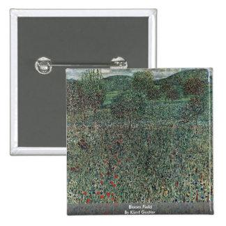 Bloom Field By Klimt Gustav Pinback Buttons