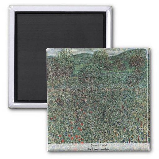 Bloom Field By Klimt Gustav Magnet