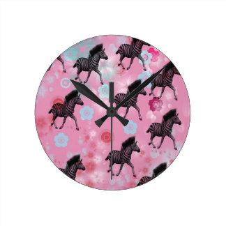 Bloom horse cherry tree wall clock