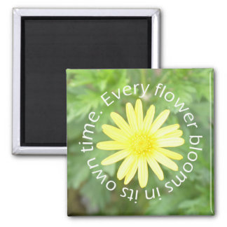 Bloom in Perfect Time Sun Flower Magnet (Square)