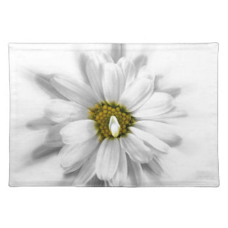 bloom in shades of white placemat