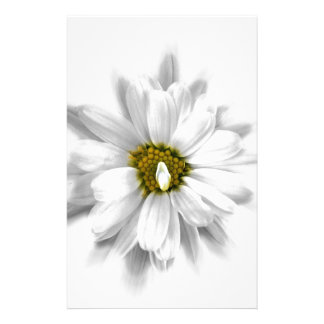 bloom in shades of white stationery design
