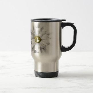 bloom in shades of white travel mug