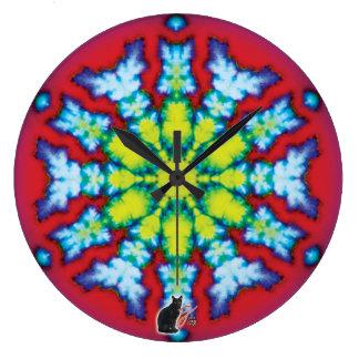 Bloom Kaleidoscope Wall Clocks