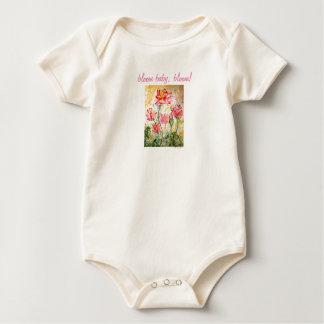 Bloom Pink Lotus Watercolor Baby Bodysuit
