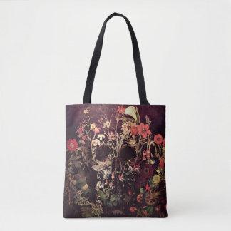 Bloom Skull Tote Bag