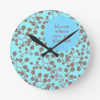 Bloom Where You Are Planted Clocks