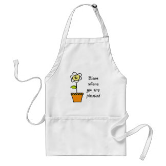 Bloom Where You Are Planted II Standard Apron