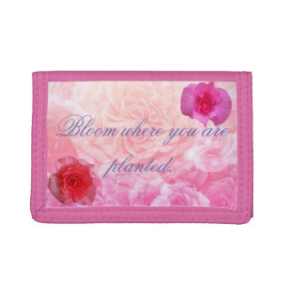 Bloom Where You Are Planted Trifold Wallet