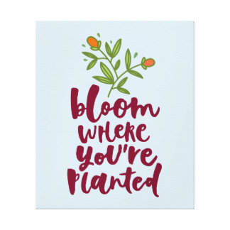 Bloom Where You're Planted Canvas Print