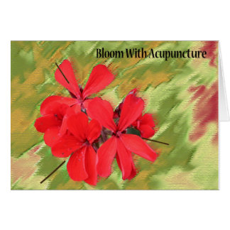 Bloom With Acupuncture Notecard
