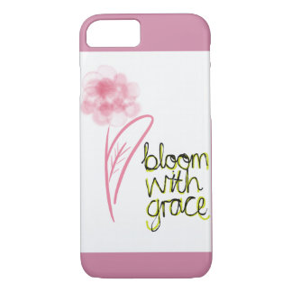 Bloom with grace flower iPhone 8/7 case