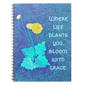 bloom with grace spiral notebook