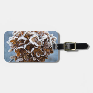 Bloom with ice crystals luggage tag