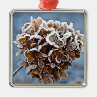Bloom with ice crystals metal ornament