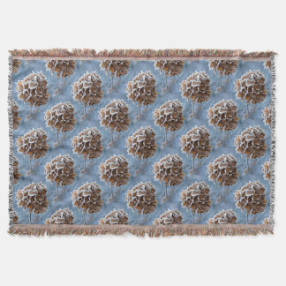 Bloom with ice crystals throw blanket