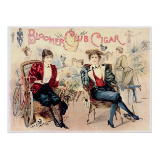 Bloomer Club Cigar Poster
