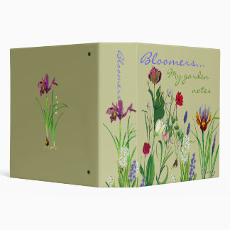 Bloomers, My  garden notes Binders
