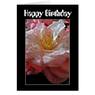 Bloomin' Camellias Birthday Card