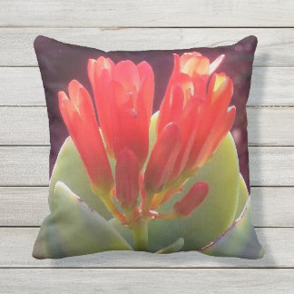 Blooming Agave Outdoor Pillow